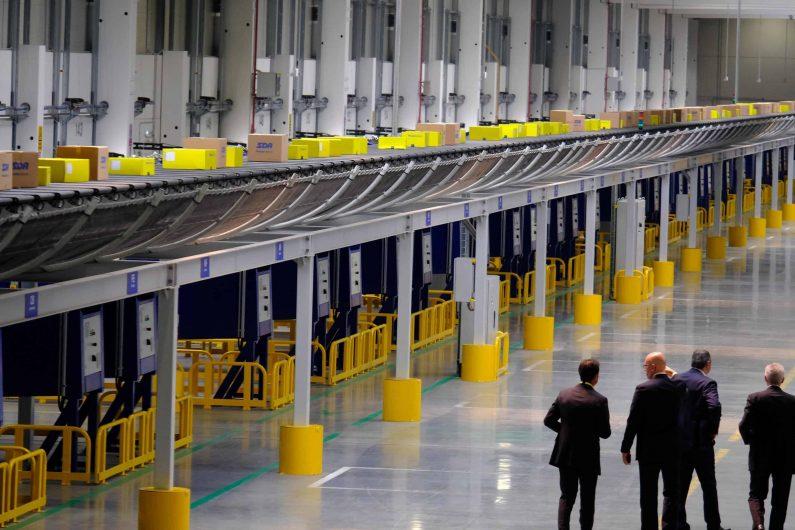 Il nuovo Hub Logistico di Sda Express Courier, società del Gruppo Poste Italiane a Bentivoglio (Bologna), 16 luglio 2019.ANSA / GIORGIO BENVENUTI