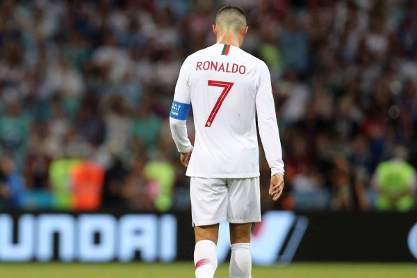 Cristiano Ronaldo (POR), JUNE 30, 2018 - Football / Soccer : FIFA World Cup Russia 2018 Round of 16 match match between Uruguay 2-1 Portugal at Fisht Stadium in Sochi, Russia. (Photo by AFLO)