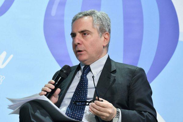 """Dario Scannapieco presidente del consiglio di amministrazione del Fondo europeo per gli investimenti durante il """"VentureUp forum"""" preeso le OGR di Torino, 17 febbraio 2020 ANSA/ ALESSANDRO DI MARCO"""