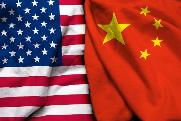 United,States,Of,America,Flag,And,China,Flag,Together