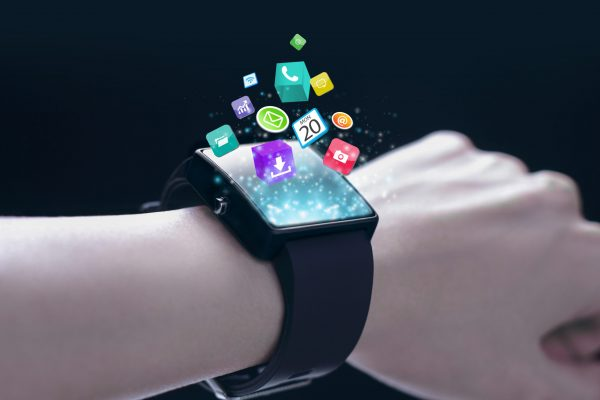 App,Icons,With,Smartwatch.,A,Smartwatch,Is,A,Wearable,Computing