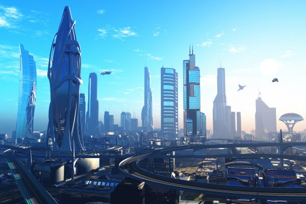 Future,City,On,The,Coast.3d,Render