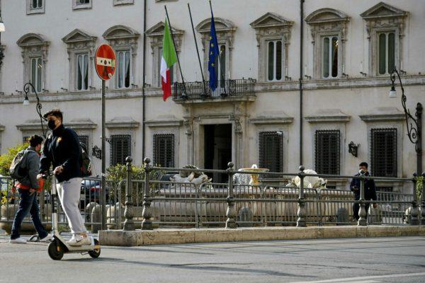 UnÕimmagine di Palazzo Chigi durante gli incontri del premier Mario Draghi con i partiti sul Recovery Plan e il DL Sostegni, Roma, 16 aprile 2021. ANSA/RICCARDO ANTIMIANI