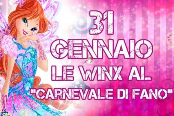 FANO (PESARO - URBINO) - Le Winx al Carnevale di Fano il 31 gennaio.+++NO SALES, EDITORIAL USE ONLY+++